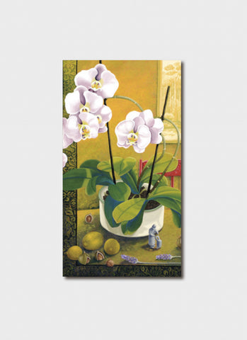 Annie Franklin Art Card - Winter Still Life With Orchids