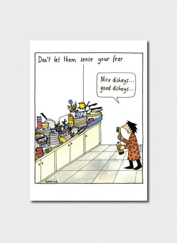 Judy Horacek cartoon card - Nice Disheys