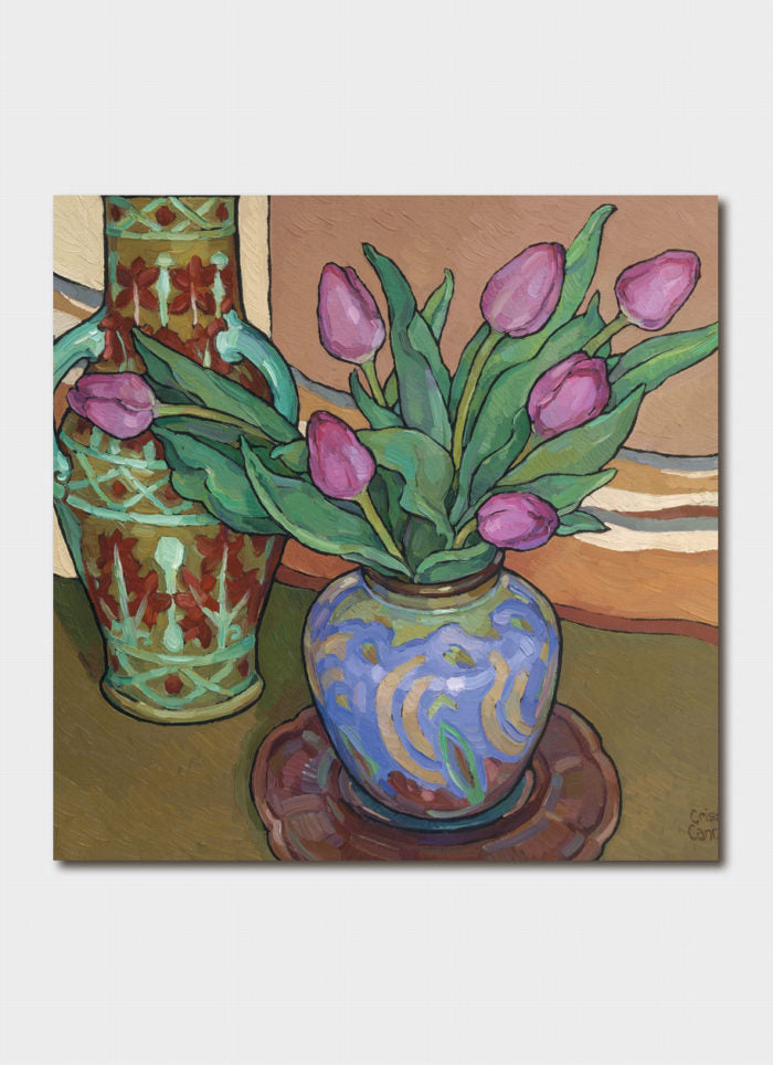 Criss Canning Art Card - Winter Tulips