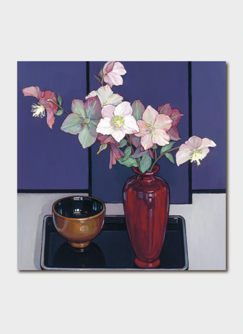 Criss Canning Art Card - Winter Hellebore