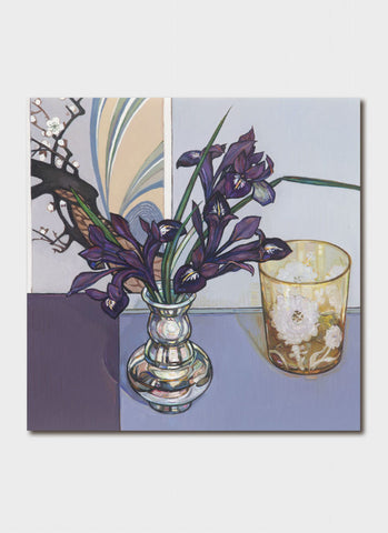 Criss Canning Art Card - Iris Silver and Etched Glass