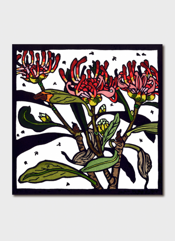Kit Hiller art card - Tasmanian Waratah