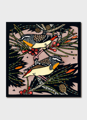 Kit Hiller art card - Pardalotes