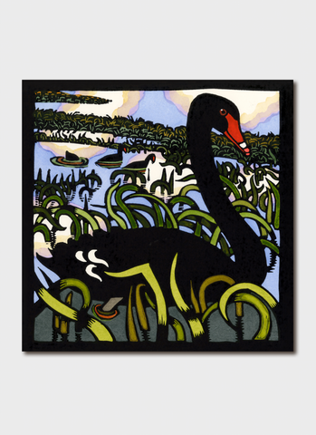Kit Hiller art card - Black Swan