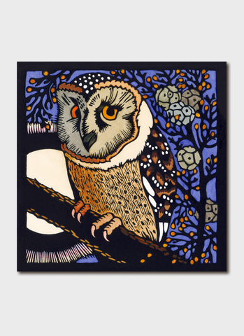Kit Hiller art card - Masked Owl