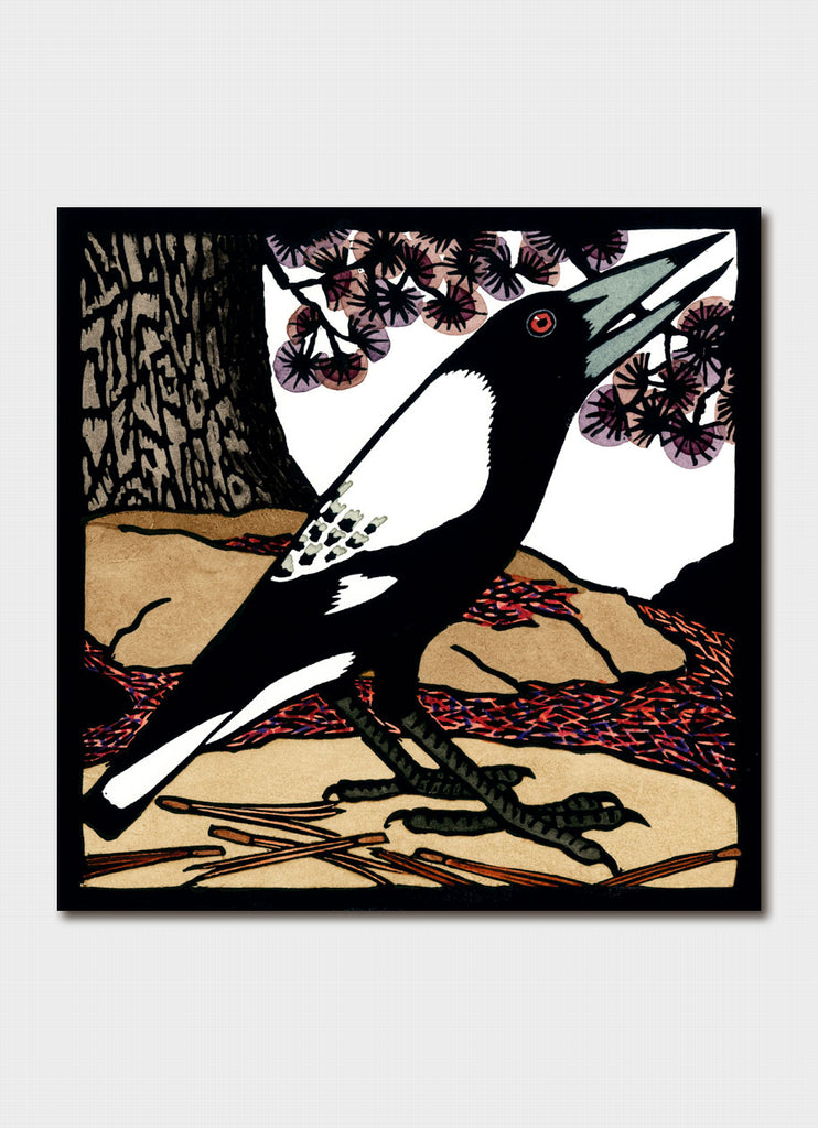 Kit Hiller art card - Magpie