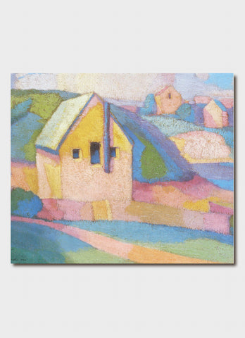 Roland Wakelin art card - Synchrony in Orange Major