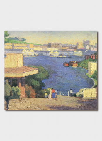 Roland Wakelin art card - Lavender Bay
