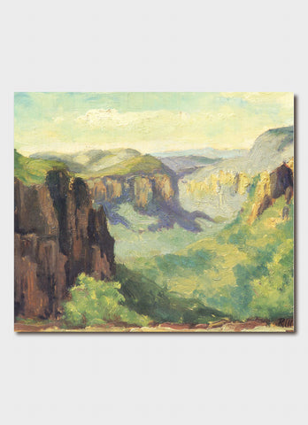 Roland Wakelin art card - Katoomba