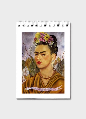 Frida Kahlo Notepad - Self Portrait Dedicated to Dr Eloesser