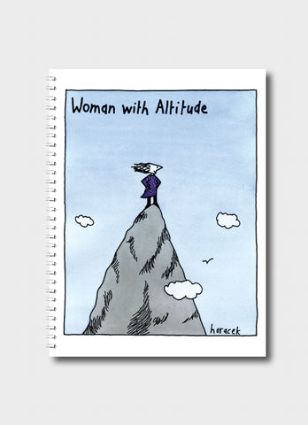 Judy Horacek Medium Notebook - Woman With Altitude