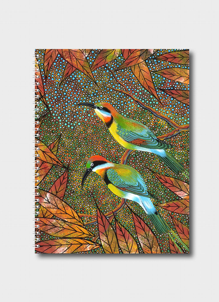 Oral James Roberts Medium Notebook - Rainbow Bee Eaters