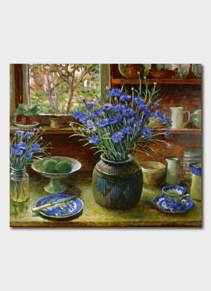 Margaret Olley - Afternoon Interior with Cornflowers