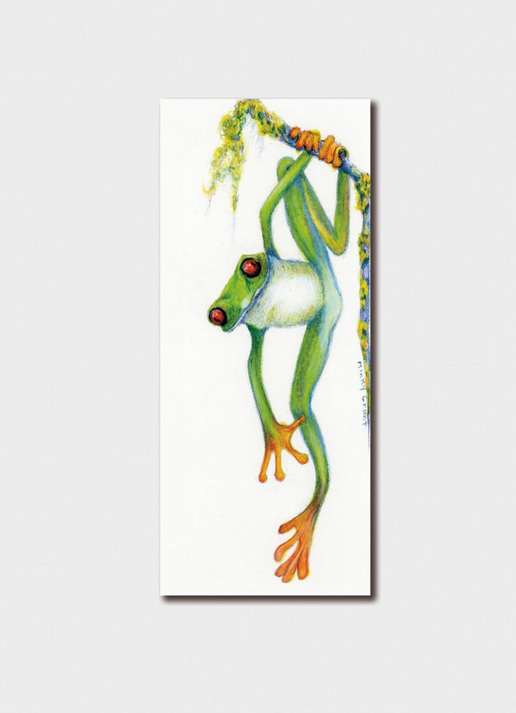 Minky Grant Bookmark - Green Tree Frog # 1