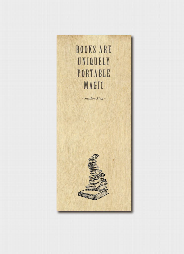 Flexible Timber Bookmark - Books are Uniquely Portable Magic