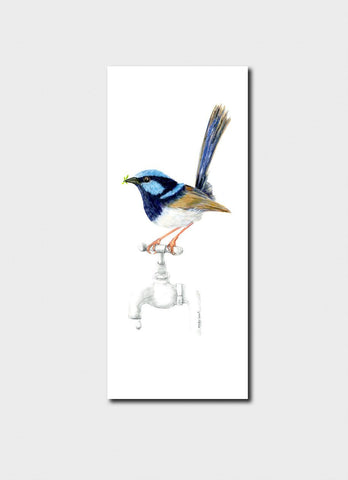 Minky Grant Bookmark - Blue Wren