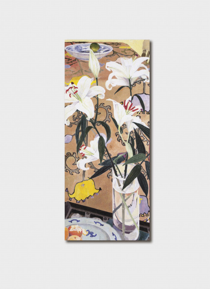 Cressida Campbell Bookmark - Lilies With Indian Cloth