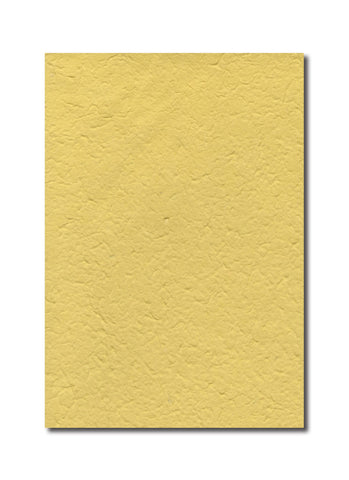 Handmade in Chiang Mai Mulberry Paper - Yellow (CHM0033)