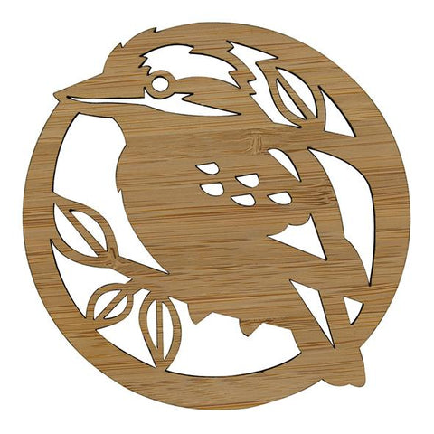 Bamboo Coasters - Laughing Kookaburra (set of four)