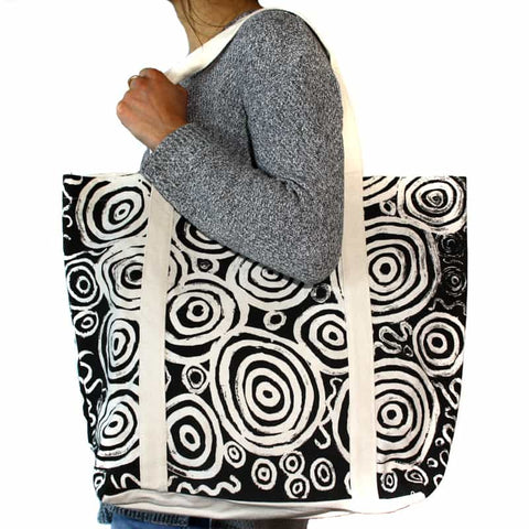 Better World Arts Large Canvas Tote Bag - Nelly Patterson