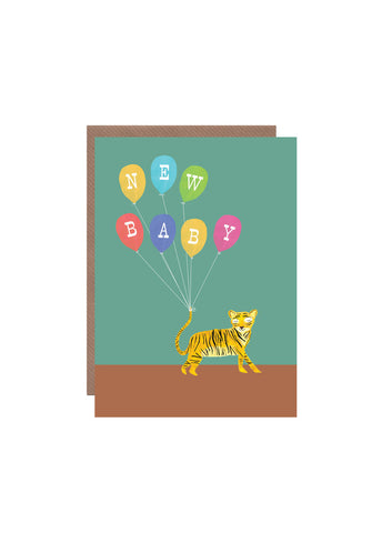 Hutch Cassidy greeting card - Tiger - New Baby