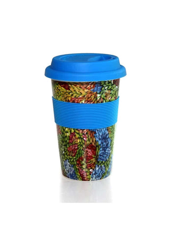 Better World Arts Eco Travel Mug - Patricia Naparrula Multa