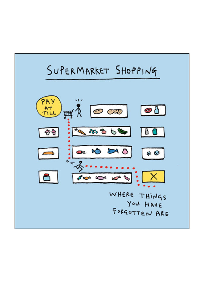 Mindfulmess Cartoon Card - Shopping