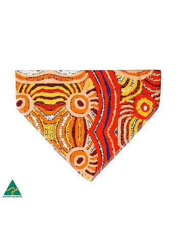Aboriginal Art Pet Bandana - Nora Davidson