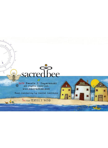 Sacredbee greeting card - Perfect Wind - back of card