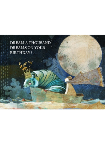 Sacredbee greeting card - A Thousand Dreams