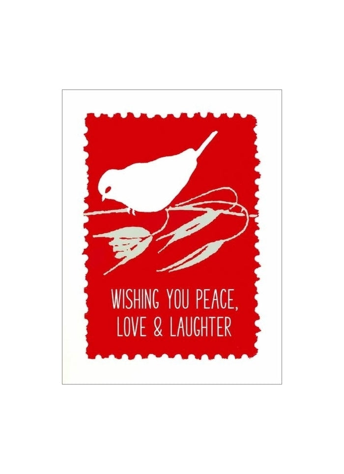 Letterpress Small Christmas Card - Love and Laughter