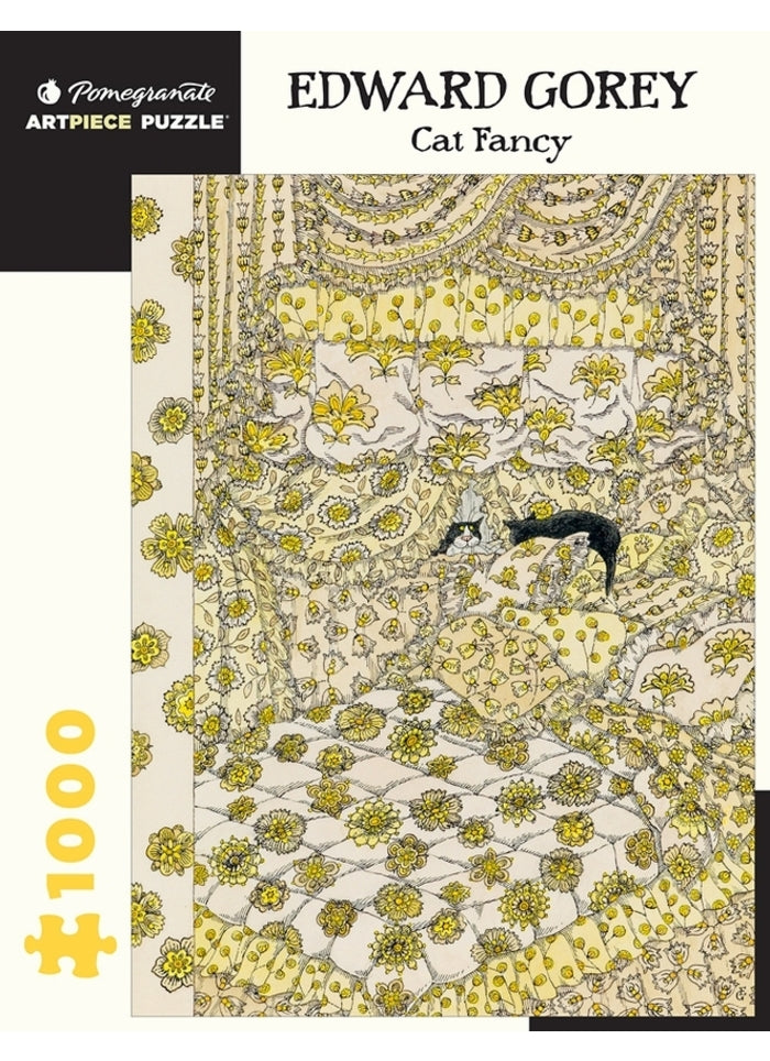 Edward Gorey: Cat Fancy 1000 Piece Puzzle