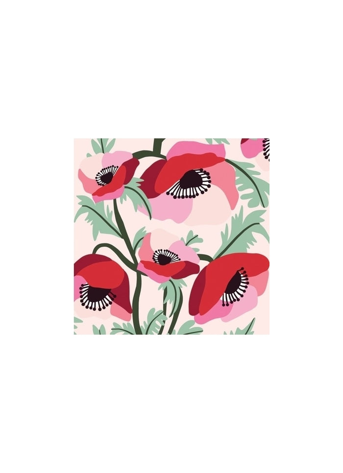 Kirsten Katz small gift card - Poppies
