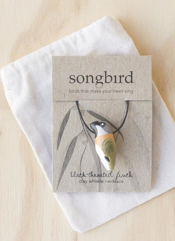 Songbird Whistle Necklace - Black Throated Finch