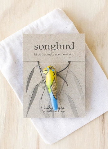 Songbird Whistle Necklace - Budgerigar