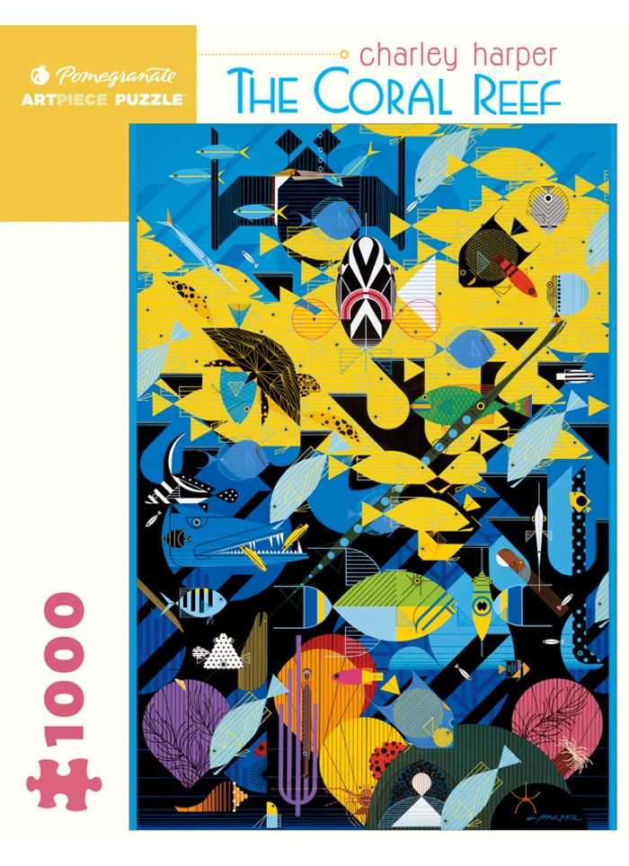 Charley Harper:  The Coral Reef 1000 Piece Puzzle