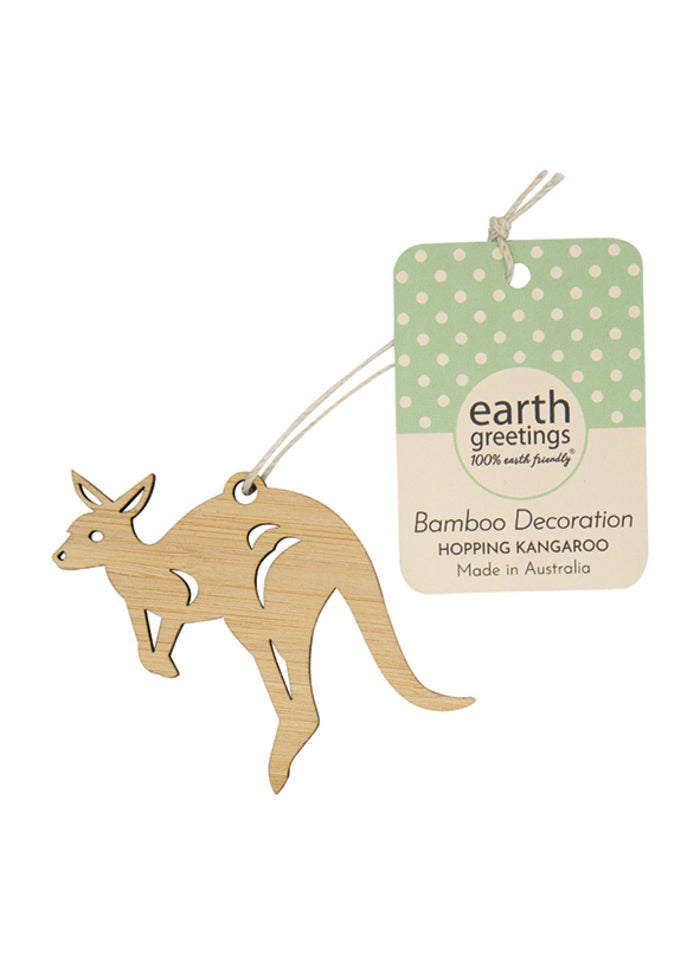 Mini Bamboo Decoration - Hopping Kangaroo
