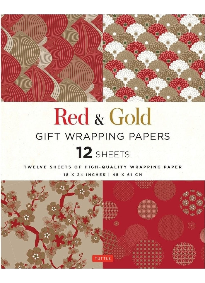 Red and Gold Gift Wrapping Papers