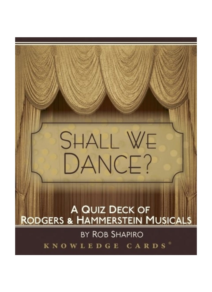 Shall We Dance? Rodgers & Hammerstein Knowledge Cards  (pack)