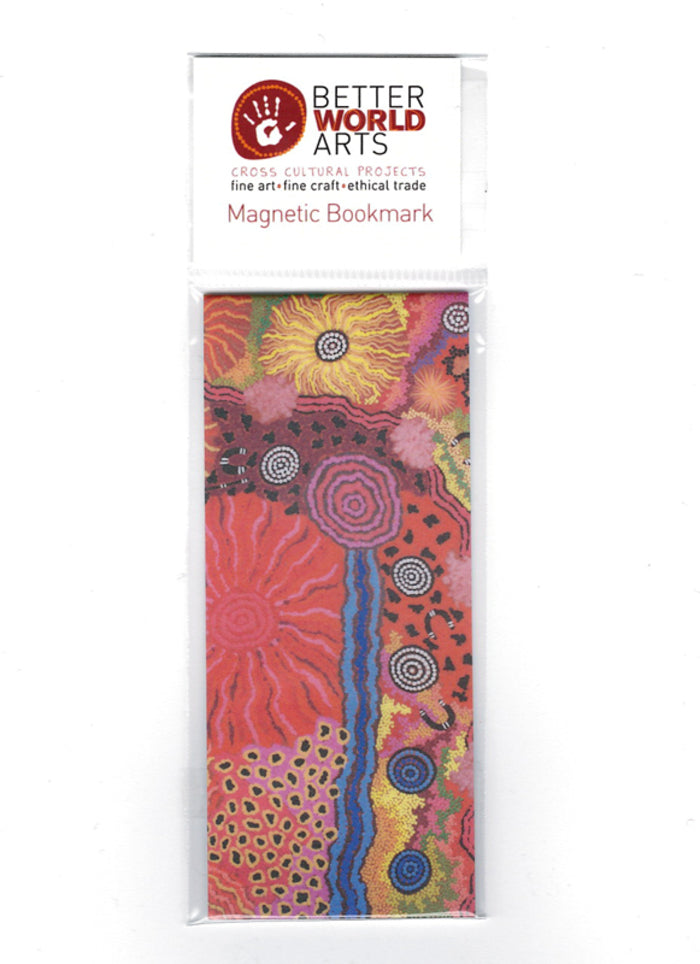 Better World Arts Magnetic Bookmark - Damien & Yilpi Marks