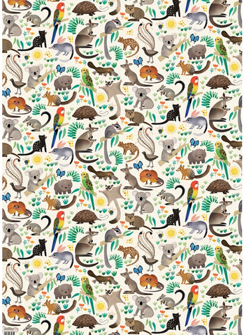 Earth Greetings Wrapping Paper - Bush Buddies
