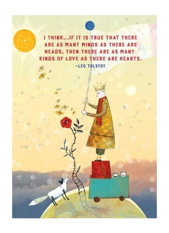 Sacredbee greeting card - Tolstoy's Love Web