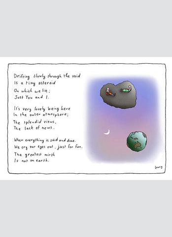 Leunig cartoon card - Asteroid