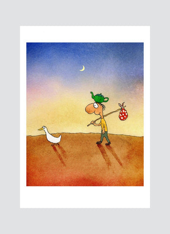 Leunig cartoon card - Direction Finding Duck