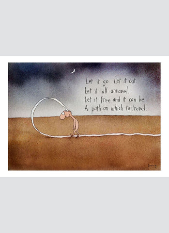 Leunig cartoon card - Let it Go