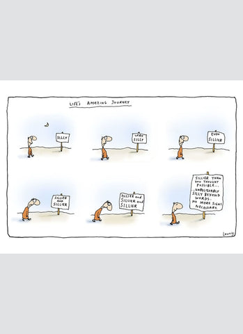 Leunig cartoon card - Life's Amazing Journey