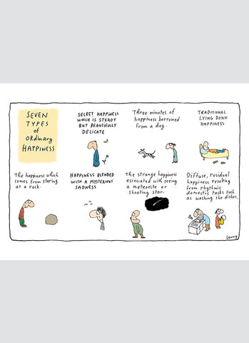 Leunig cartoon card - Ordinary Happiness