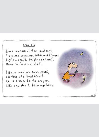 Leunig cartoon card - Requiem