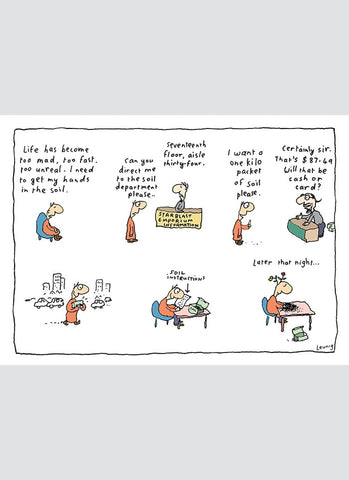 Leunig cartoon card - Soil