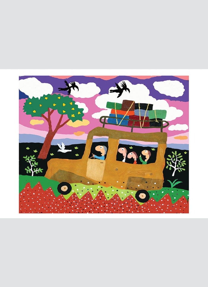Leunig art card - Corrugation Road